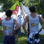 2 windsurfers from St. Mary's College of Maryland