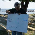 Commodore Tomaso explains the course.