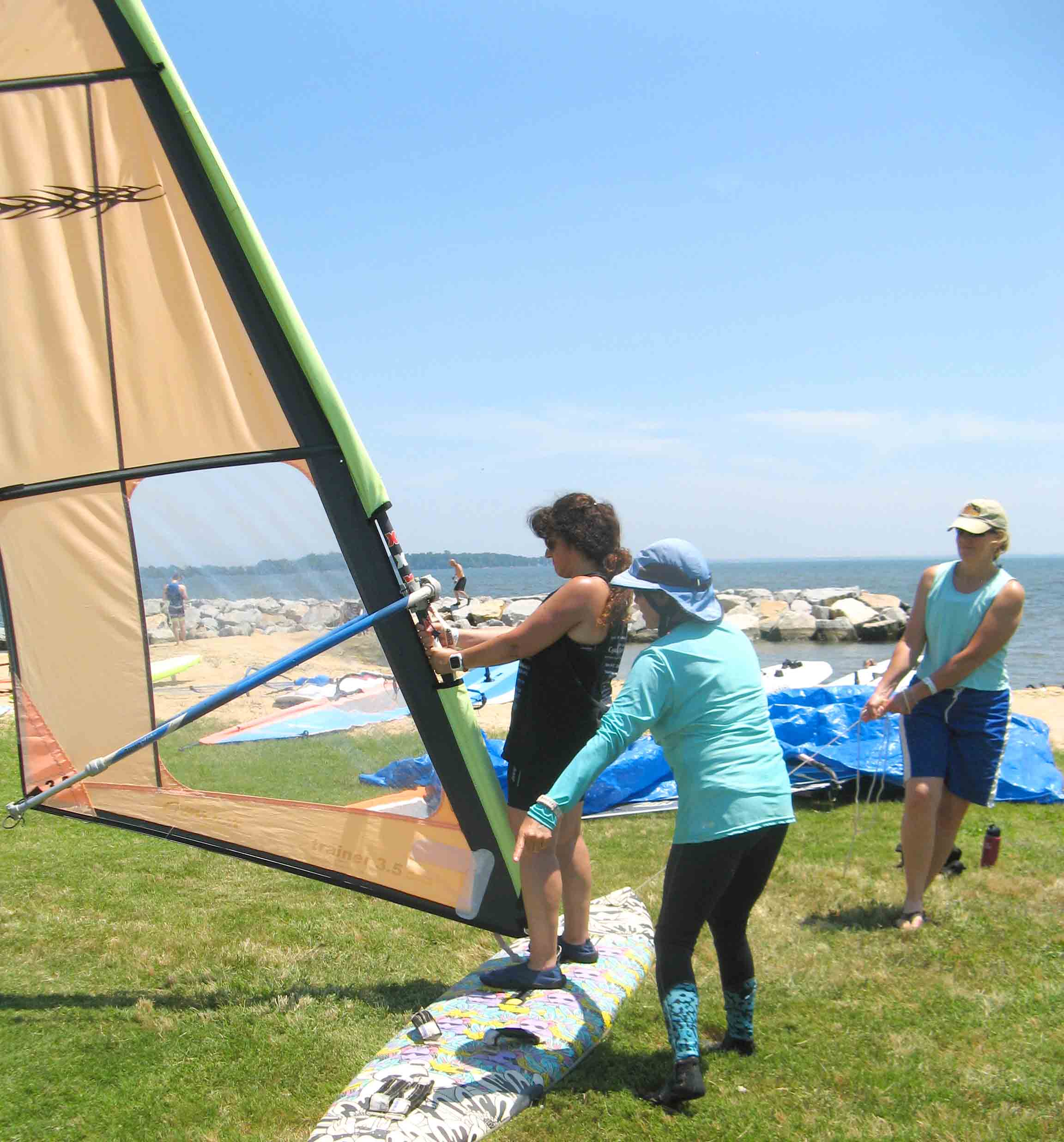 5 Janice and Amber instructig at Learn to windsurf